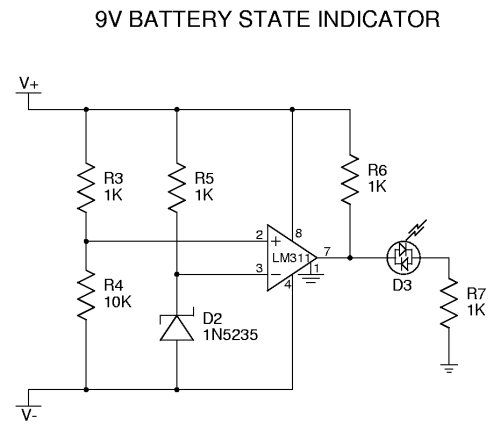 low battery indicator circuits
