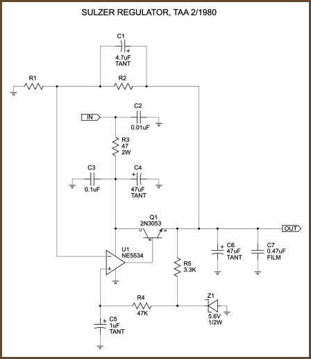 It uses the fast, low-noise NE5534 as the error amp.  There are several subtle improvements in this design relative...